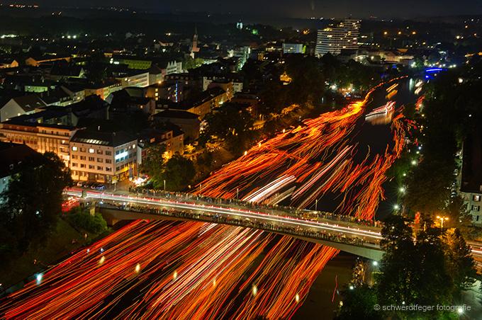 Lichterserenade: Fotoreportage der Lichterserenade in Ulm